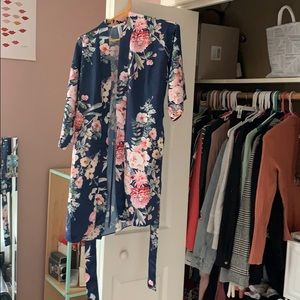 Brand New Flora Nikrooz Silk Robe